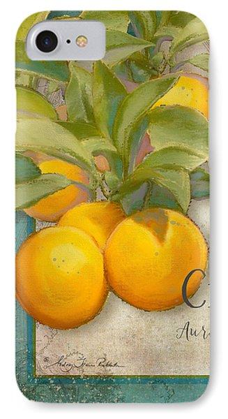 Tuscan Orange Tree - Citronier Aurantiaco Lignum Vintage IPhone Case