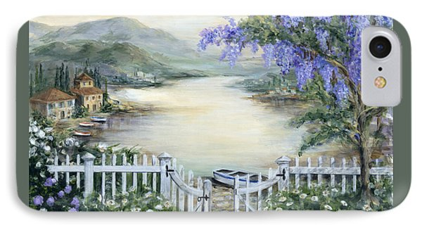 Tuscan Pond And Wisteria IPhone Case