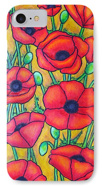 Tuscan Poppies - Crop 1 Phone Case by Lisa  Lorenz