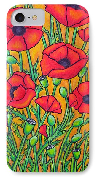 Tuscan Poppies - Crop 2 Phone Case by Lisa  Lorenz