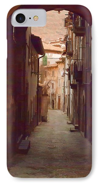 IPhone Case featuring the photograph Tuscan Side Street by Michael Flood