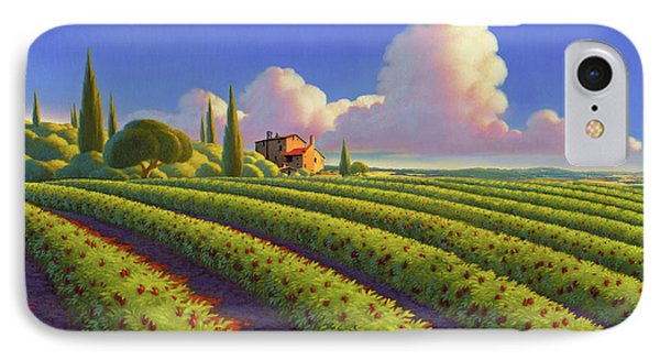 IPhone Case featuring the painting Tuscan Summer by Robin Moline