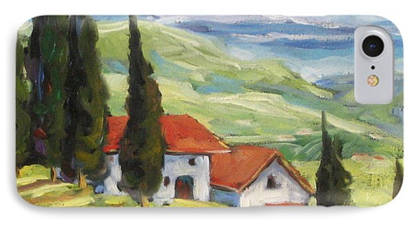 Tuscan Villas Phone Case by Richard T Pranke