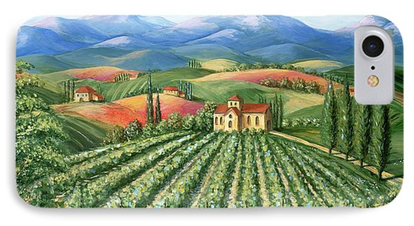 Tuscan Vineyard And Abbey Phone Case by Marilyn Dunlap