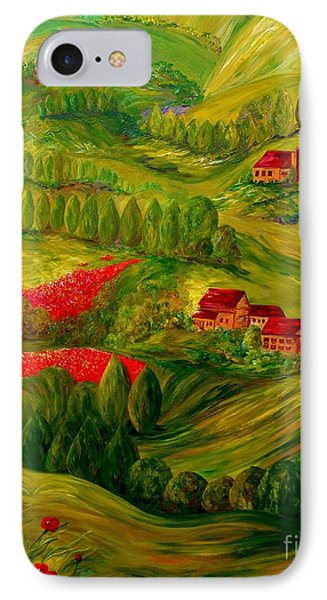 Tuscany At Dawn IPhone Case by Eloise Schneider
