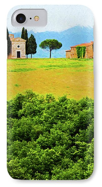 Tuscany Chapel And Farmhouse Phone Case by Dennis Cox