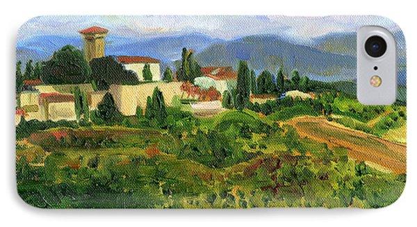 Tuscany From Castello Di Verrazzano IPhone Case by Jennie Traill Schaeffer