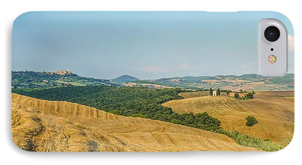 Tuscany Landscape With Rolling Hills At Sunset, Val D'orcia, Ita IPhone Case by JR Photography