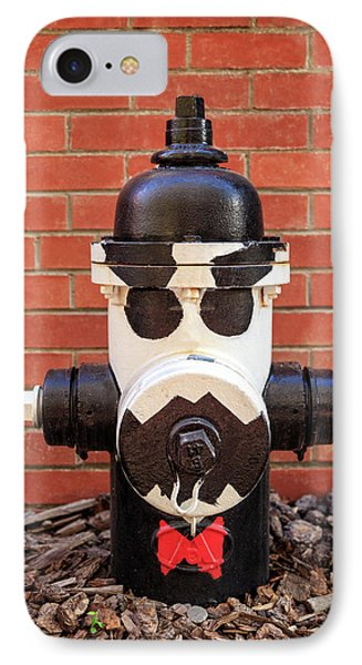 IPhone Case featuring the photograph Tuxedo Hydrant by James Eddy