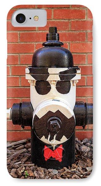 Tuxedo Hydrant IPhone Case by James Eddy
