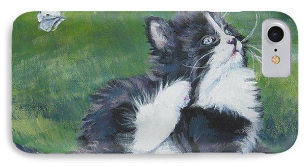Tuxedo Kitten Phone Case by Lee Ann Shepard