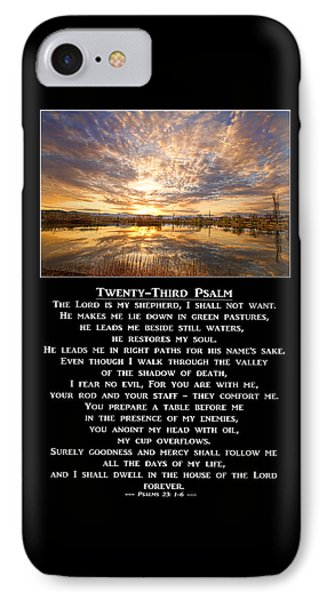 Twenty-third Psalm Prayer IPhone Case by James BO  Insogna
