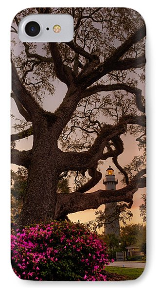 Twilight At St. Simons Lighthouse IPhone Case by Chris Bordeleau