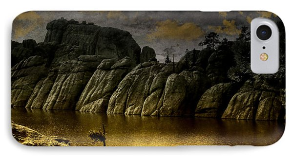 Twilight At The Lake IPhone Case by Ellen Heaverlo