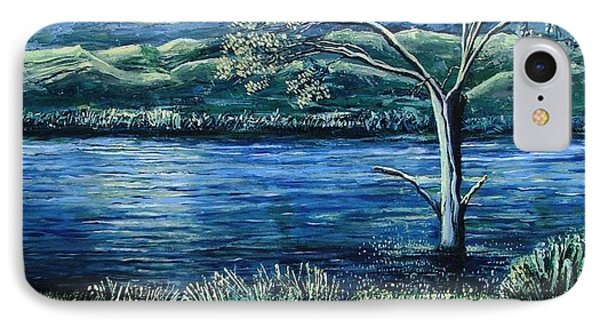 Twilight At The River Phone Case by Caroline Street