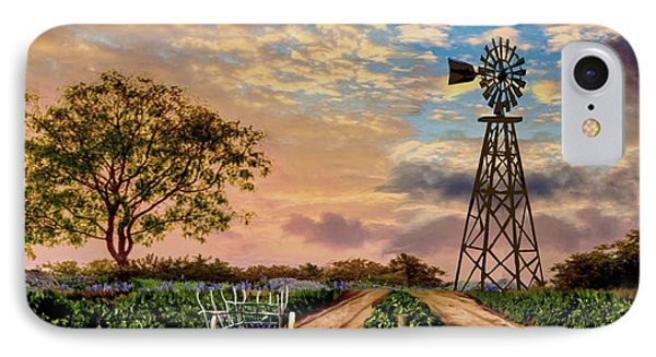 Twilight At The Vineyard IPhone Case by Ron Chambers