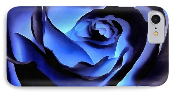 Twilight Blue Rose  IPhone Case by Janine Riley