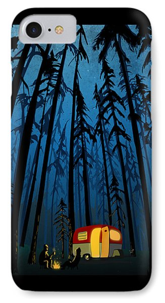 Twilight Camping IPhone Case by Sassan Filsoof