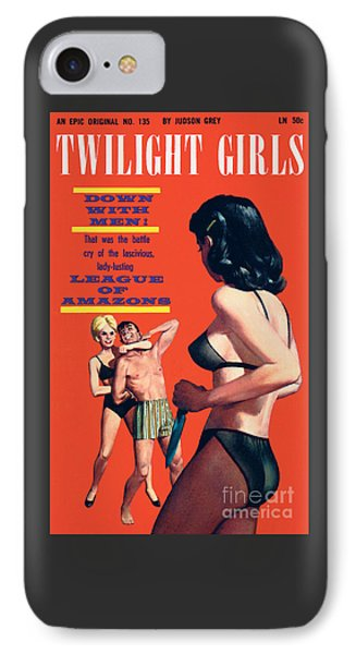 IPhone Case featuring the painting Twilight Girls by Doug Weaver