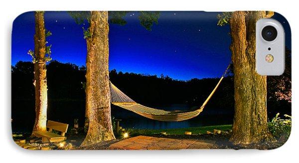 Twilight Hammock Smith Mountain Lake IPhone Case by The American Shutterbug Society