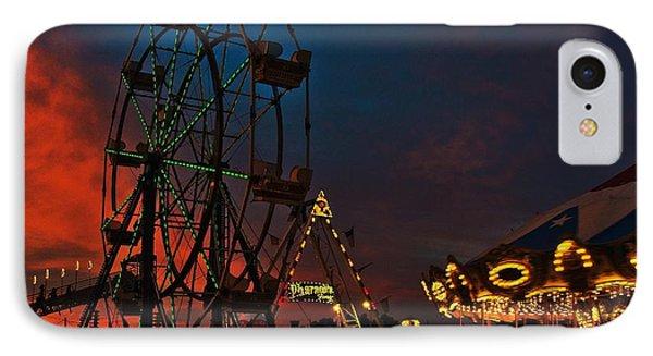 Twilight On The Midway  IPhone Case by John Harding