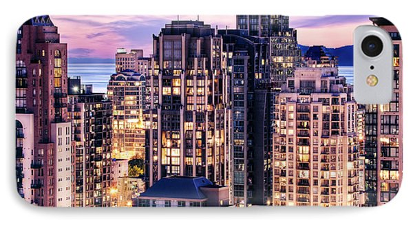 Twilight Over English Bay Vancouver IPhone Case by Amyn Nasser