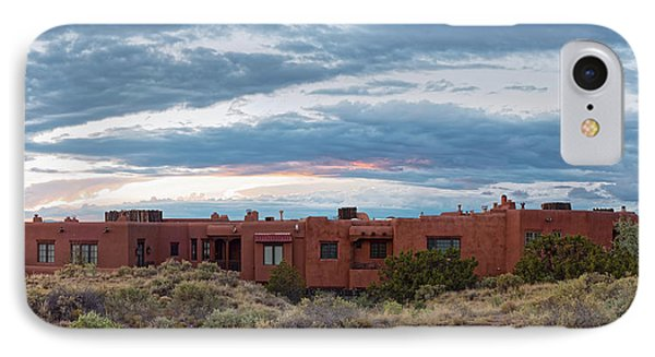 Twilight Panorama Of Pueblo Revival Architecture At Cross Of The Martyrs - Santa Fe - New Mexico IPhone Case