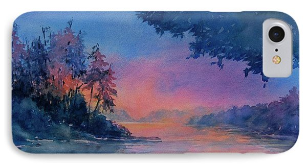 Twilight Time No 4 Eagle Lake IPhone Case by Virgil Carter