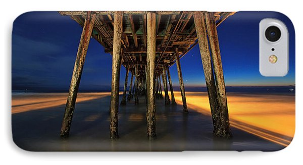 Twilight Under The Imperial Beach Pier San Diego California IPhone Case by Sam Antonio Photography