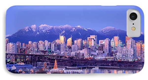 Twilight, Vancouver Skyline, British IPhone Case by Panoramic Images