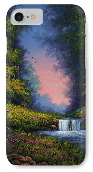 IPhone Case featuring the painting Twilight Whisper by Kyle Wood