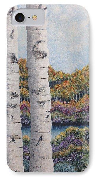 Twin Aspens IPhone Case by Holly Carmichael