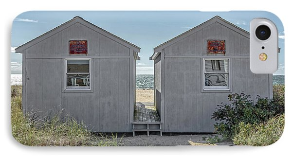Twin Beach Cottages Cape Cod IPhone Case by Edward Fielding