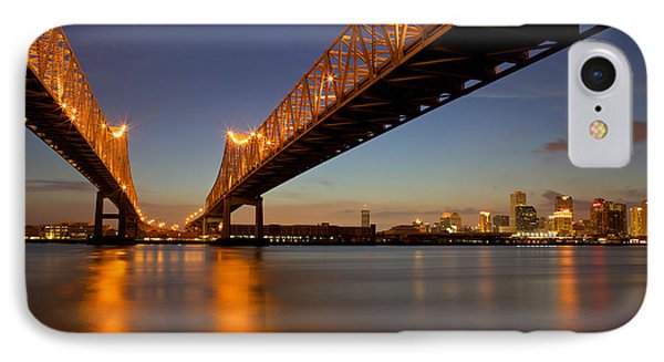 IPhone Case featuring the photograph Twin Bridges by Evgeny Vasenev