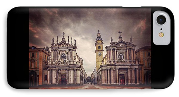Twin Churches Of Turin  IPhone Case by Carol Japp