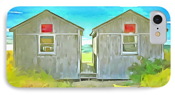 Twin Cottages Craigsville Beach Cape Cod IPhone Case by Edward Fielding