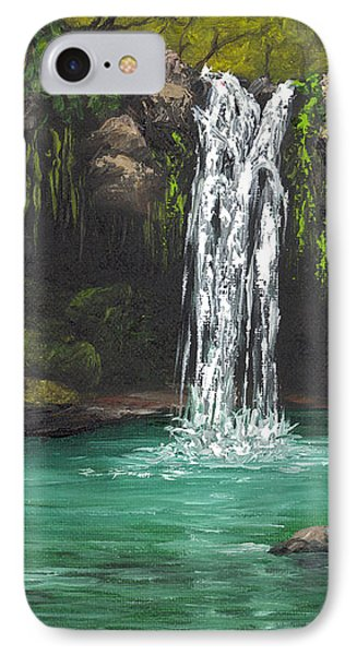 IPhone Case featuring the painting Twin Falls 2 by Darice Machel McGuire