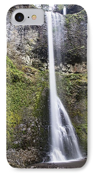 Double Falls In Silver Falls State Park IPhone Case by John McGraw
