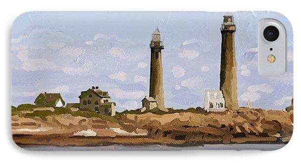 Twin Lights, Thatcher's Island, Rockport, Ma IPhone Case
