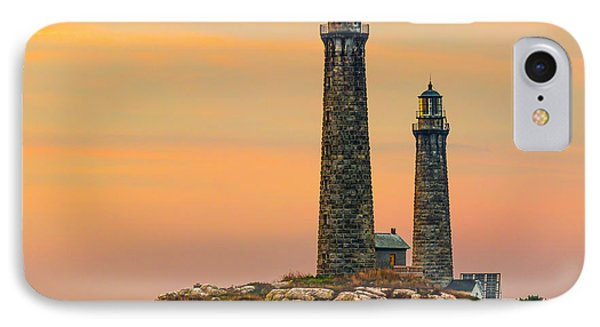 Twin Lights With Morning Glow IPhone Case by Tim Kirchoff
