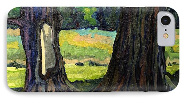 Twin Maples Phone Case by Phil Chadwick