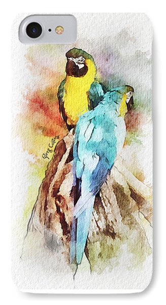 Twin Parrots IPhone Case