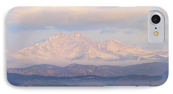 Twin Peaks Meeker And Longs Peak Panorama Color Image Phone Case by James BO  Insogna