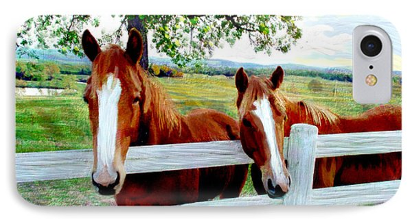 Twin Ponies IPhone Case
