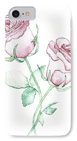 Twin Roses IPhone Case by Varpu Kronholm