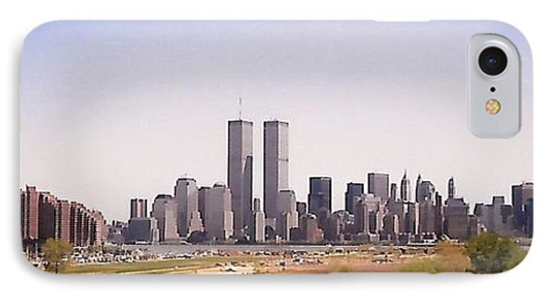 Twin Towers IPhone Case by Karen Silvestri