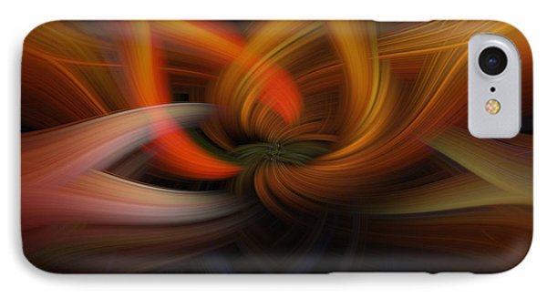 Twirl Abstract IPhone Case by Skip Tribby