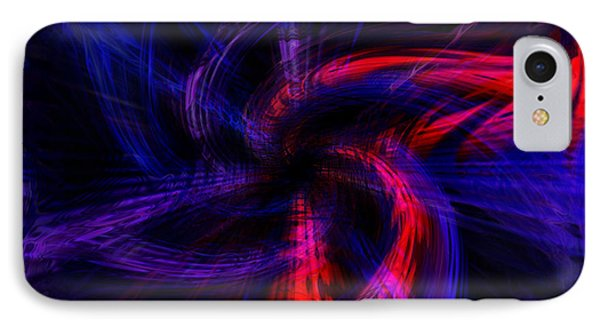 Twirled Star IPhone Case by Cherie Duran