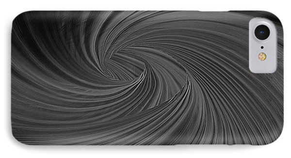 Twist To Black  - Black And Gray Art IPhone Case by Lourry Legarde