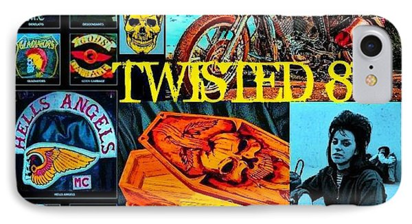 Twisted 8's Phone Case by Tony Adamo